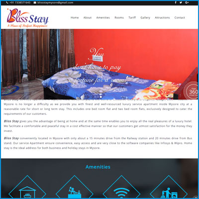Bliss Stay Serviced Apartment in Mysore